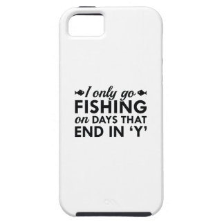 I Only Go Fishing iPhone 5 Cases