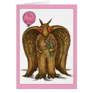I Only Have Eyes For You Mothman Valentine Greeting Card