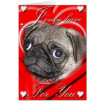 I Only Have Eyes For You Valentine Card Greeting Card