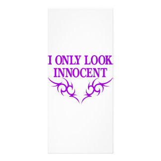 I Only Look Innocent Customized Rack Card