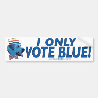 I Only Vote Blue Bumper Sticker