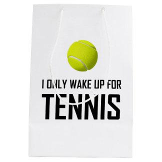 I Only Wake Up For Tennis Medium Gift Bag