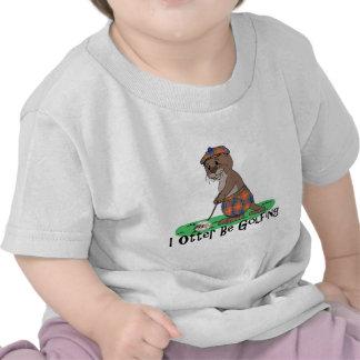 I Otter Be Golfing T-shirts