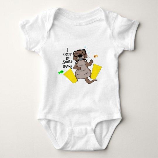 I Otter Be Scuba Diving Baby Bodysuit