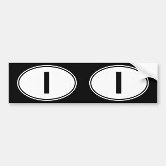 I Oval Identity Sign Bumper Sticker