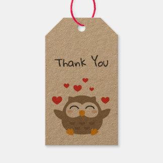 I Owl You Illustration Gift Tags