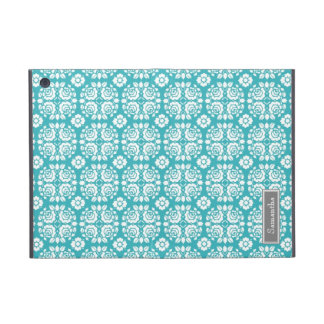 i Pad  Aqua Damask Custom Name iPad Mini Case