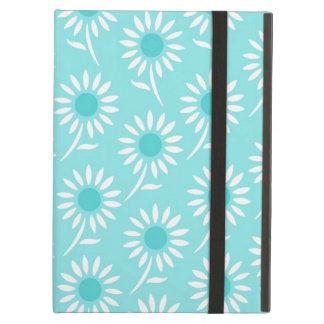 i Pad Aqua White Pattern iPad Air Cover