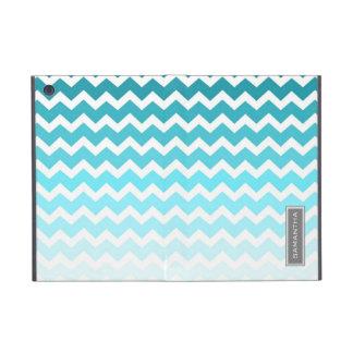 i Pad  Blue Ombre Chevron Custom Name Cases For iPad Mini