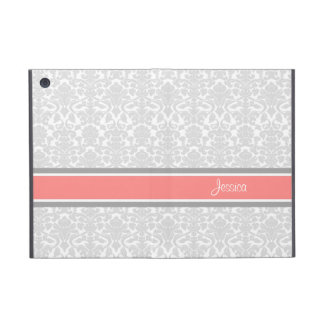 i Pad Coral Damask Custom Name iPad Mini Case
