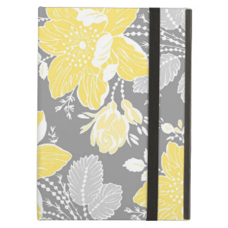 i Pad Lemon Gray Floral Pattern iPad Air Case
