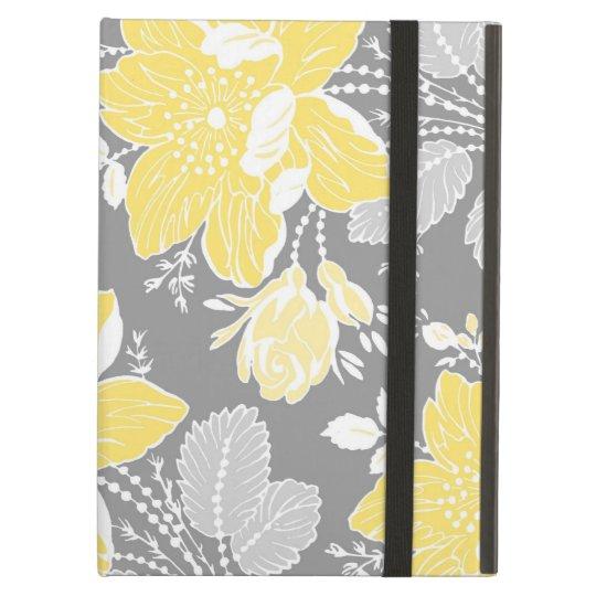i Pad Lemon Grey Floral Pattern iPad Air