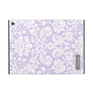 i Pad  Lilac Damask Custom Name Cover For iPad Mini