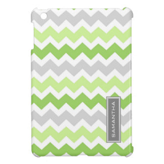 i Pad Mini Lime Ombre Chevron Custom Name Cover For The iPad Mini
