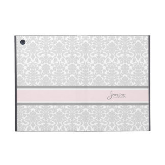 i Pad Mini Pink Damask Custom Name iPad Mini Case