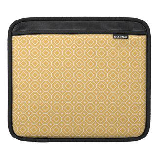 i Pad Orange Retro Pattern iPad Sleeve
