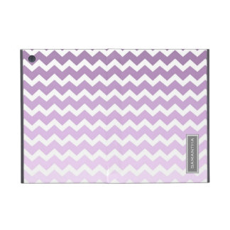 i Pad  Purple Ombre Chevron Custom Name Cover For iPad Mini