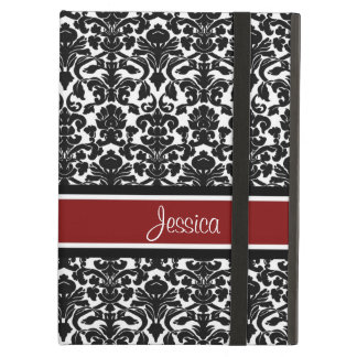 i Pad Red Damask Custom Name Case For iPad Air
