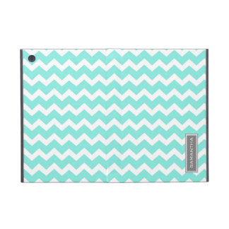 i Pad  Teal Chevron Custom Name iPad Mini Cover
