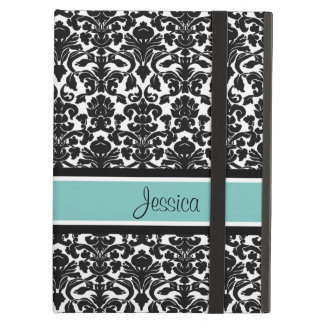 i Pad Teal Damask Custom Name Case For iPad Air