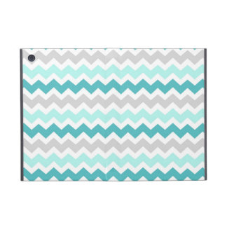 i Pad Teal Grey Chevrons Pattern Cover For iPad Mini