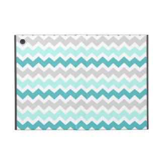 i Pad Teal Grey Chevrons Pattern iPad Mini Cases