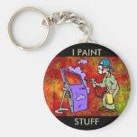 I Paint Stuff Keychain