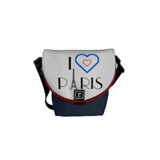 I ❤️ Paris Eiffel Tower Mini Messenger Bag