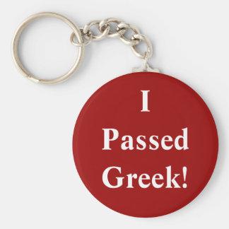 I Passed Greek Key Ring