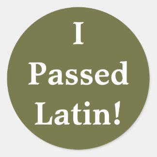 I Passed Latin! Stickers