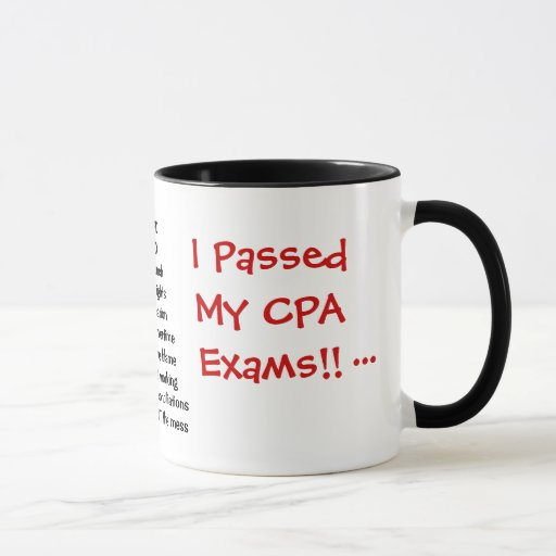 I Passed My CPA Exams! - triple sided