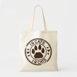 I paw cats with paw print bags
