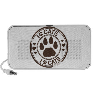 I paw cats with paw print mp3 speakers