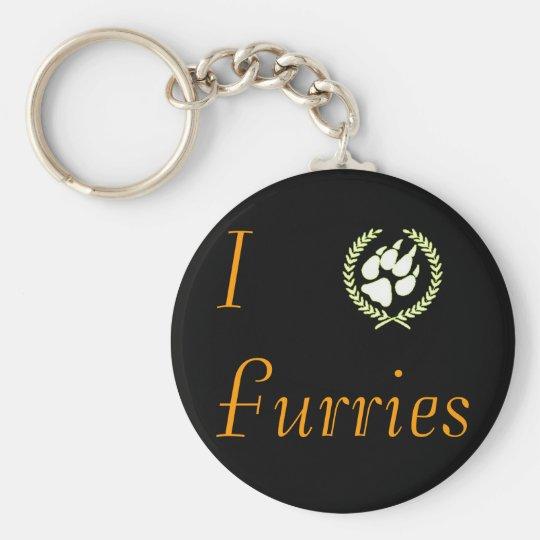 I Paw Furries Keychain