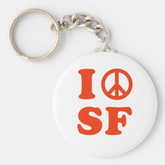 I peace SF Basic Round Button Key Ring
