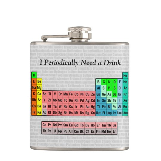 I Periodically Need a Drink; Periodic Table Hip
