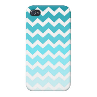 i Phone 4 Blue Ombre Chevrons Pattern Case For iPhone 4