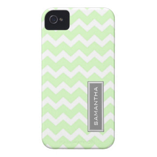 i Phone 4 Mint Chevron Custom Name Case-Mate iPhone 4 Case