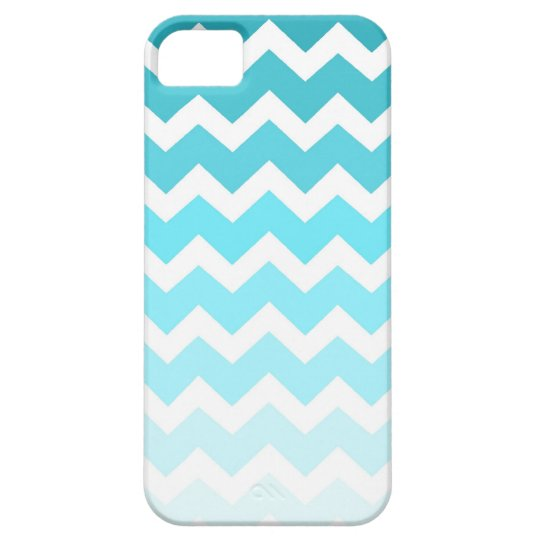 i Phone 5 Blue Ombre Chevrons Pattern iPhone