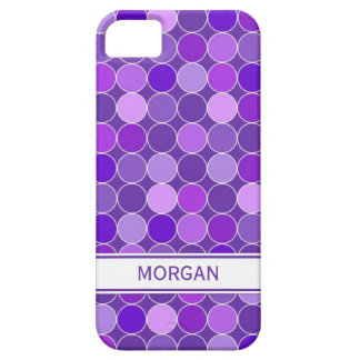i Phone 5 Custom Name Purple Circles Pattern Barely There iPhone 5 Case
