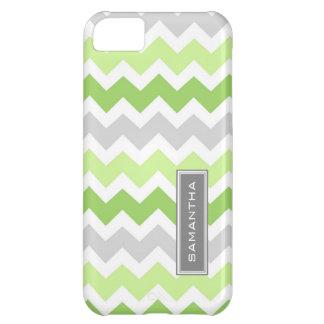 i Phone 5 Lime Ombre Chevron Custom Name iPhone 5C Case