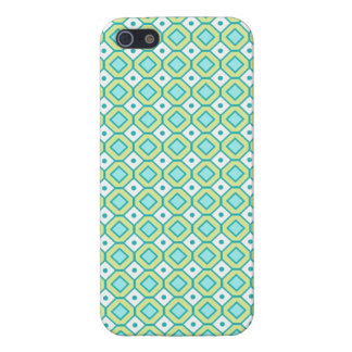 i Phone 5 Lime Teal Retro Pattern Cover For iPhone 5/5S