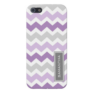 i Phone 5 Purple Chevron Ombre Custom Name Case For iPhone 5/5S