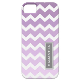 i Phone 5 Purple Ombre Chevron Custom Name Case For The iPhone 5
