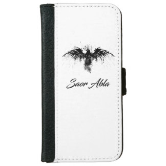 "I-PHONE 6S WALLET CASE ""SAOR ALBA BLACK AND WHITE"