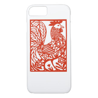 I Phone case with folk art rooster