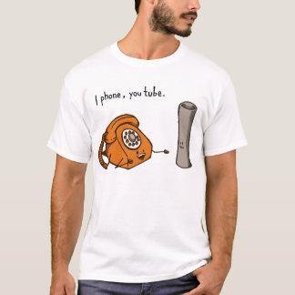 I phone, you tube. Shirt