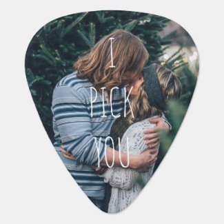 I Pick You Photo Guitar Pick