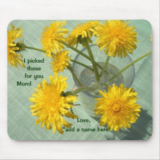 I Picked These for You! Dandelion Bouquet Mouse Mat