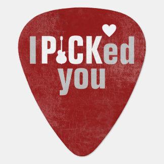 I picked you, wedding love plectrum